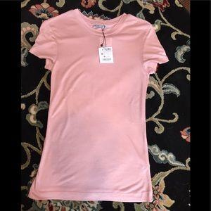 Zara pink short sleeve tee NWT
